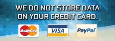 """We do not store data on your credit card.""""Secure Payment with PayPal."""""""